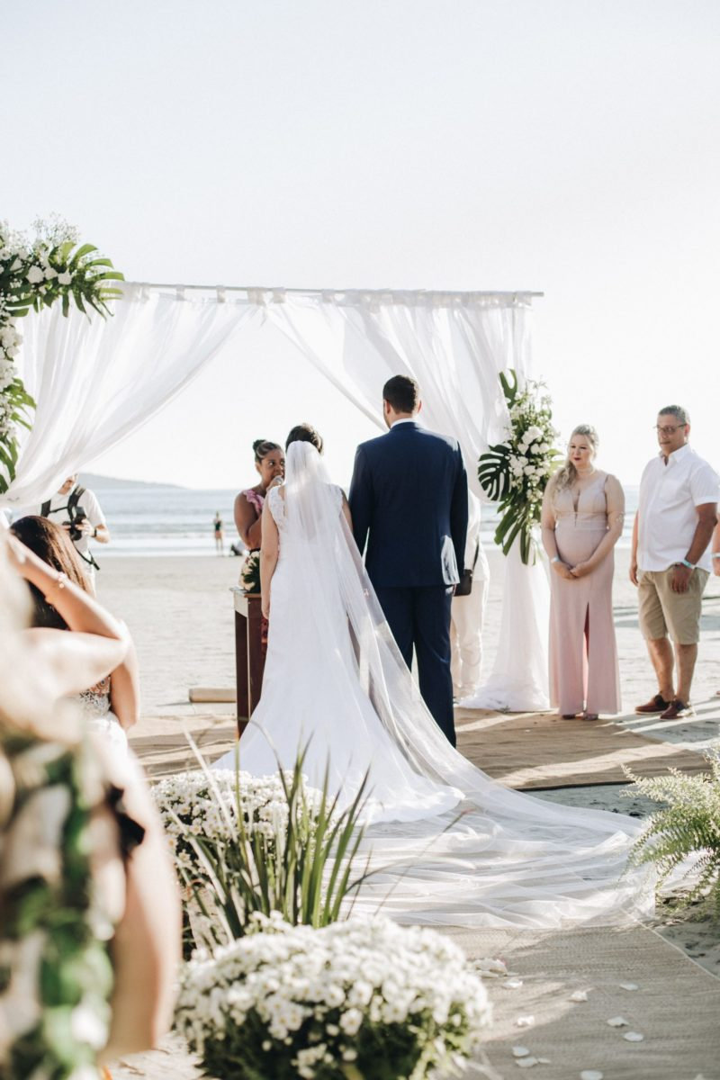 celebración de boda en la playa