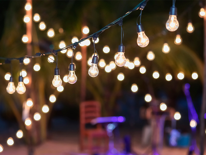 Iluminación en las bodas