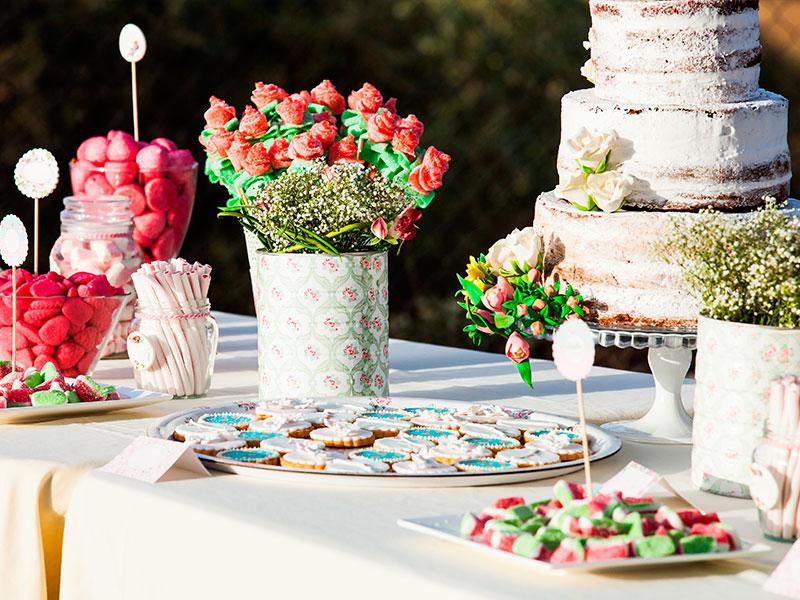 Mesas dulces para el día de vuestra boda